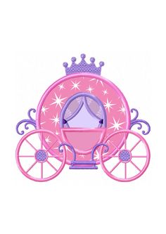 Shop for applique embroidery designs on Etsy, the place to express your creativity through the buying and selling of handmade and vintage goods. Princess Carriage, Cinderella Carriage, Princess Castle, Baby Clip Art, Machine Embroidery Applique, W 6, Princesas Disney, Art Plastique, Applique Designs