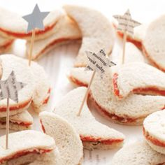 Moon and star sandwiches