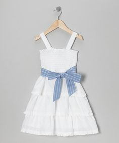 Take a look at this White Tiered Ruffle Dress - Toddler & Girls by Zunie & Pinky on #zulily today!