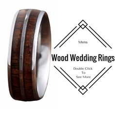 6mm All Natural Koa Wood Ring crafted out of high quality tungsten carbide. This makes a great mens wedding band or womens as well. I love these mens wood wedding rings!