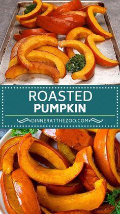 Gluten Free Recipes For Dinner, Easy Healthy Recipes, Dinner Recipes, Roast Pumpkin, Baked Pumpkin, Roasted Pumpkin Recipe, Sugar Pumpkin, Thanksgiving Recipes, Fall Recipes