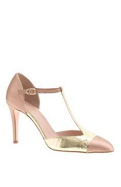 Blush + gold heels