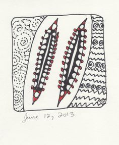 Zentangle from July 12, 2013