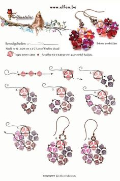 jewelry making tutorials Best Seed Bead Jewelry 2017 Flor estrella Seed Bead Tutorials - Seed bead jewelry Flor, estrella ~ Seed Bead Tutorials Discovred by : Linda LinebaughPretty crystal earrings pattern from Elfen be. Free Pattern for Beaded EarringsPe Seed Bead Jewelry, Bead Jewellery, Seed Bead Earrings, Crystal Earrings, Copper Earrings, Star Earrings, Flower Earrings, Seed Beads, Beaded Earrings Patterns