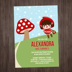 Little Red Riding Hood Invitation PRINTABLE