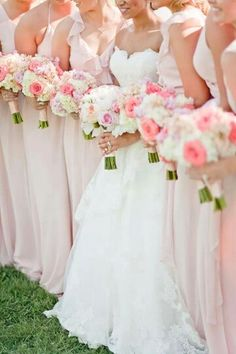 Love the color of the bouquet and the bridesmaids dresses. Actually I love the bride's dress too