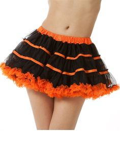 Striped Chiffon Costume Tutu Pettiskirt available in many colors.  Perfect for Halloween.