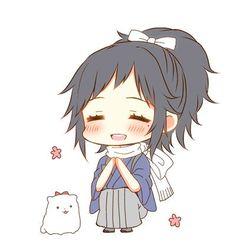 People Illustration, Illustration Art, Anime Wolf, Touken Ranbu, Samurai, Chibi, Geek Stuff, Kawaii, Funny