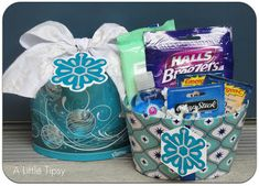 Healthy Christmas Care Package (Swell Noel #35) - Positively Splendid {Crafts, Sewing, Recipes and Home Decor}
