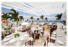 Sandos Cancun Wedding Terrace. Capacity: 300 guests.