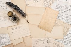 Check out Old letters, vintage postcards by LiliGraphie on Creative Market