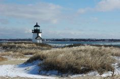 Brant Point Lighthouse just a hint of snow!