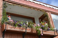 A balcony filled with flowers in Frutillar