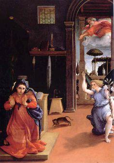 Lorenzo Lotto (Italian, 1480-1556/1557) - The Annunciation, c. 1534