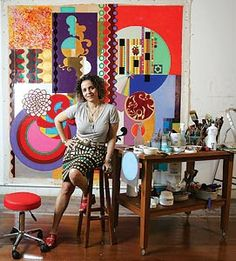 BEATRIZ MILHAZES is a Brazilian artist known for her work juxtaposing Brazilian cultural imagery and references to western Modernist painting.