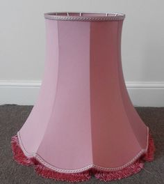 Extra large vintage pink fabric lampshade for floorstanding - Standard lamps