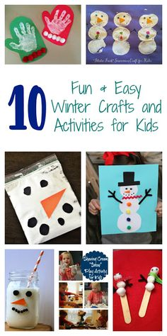 10 Winter Crafts & Activities for Kids    The Chirping Moms