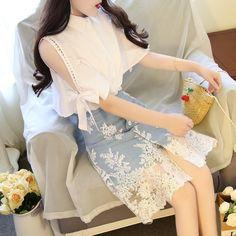 Korean Fashion Dress, Korean Dress, Kpop Fashion Outfits, Girls Fashion Clothes, Korean Outfits, Mode Outfits, Cute Fashion, Asian Fashion, Girl Outfits