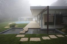 A foggy morning in Bel Air, showcases Richard Neutra's magnificent Singleton House. Neutra was an Austrian American architect who spent the majority of his career in Southern California, and came to be considered among the most important modernist architects. Influenced by nature, Neutra's architecture was a blend of sculpture, landscape and practical comfort...