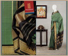 Black Saree, Saree Styles, Chennai, Dress Wedding, Silk Sarees, Yards, Sage, December, Weaving