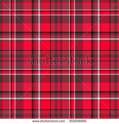 Red And Black Striped Plaid Tartan Fabric Pattern Design - Red and black and white checkered pattern with stripes, seamless plaid texture raster image.