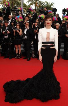 Best cutouts I've seen in ages. Cannes 2012: Paz Vega in Stephane Rolland