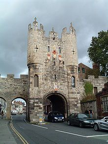 Micklegate lies on the Western side of the River Ouse, Yorkshire, and holds the southern entrance into the city, Micklegate Bar, through which many monarchs have entered. Following the Battle of Wakefield, a battle during the Wars of the Roses, the heads of Richard Plantagenet, 3rd Duke of York (father of Edward IV and Richard III), Edmund, Earl of Rutland (another son of Richard) and Richard Neville, 5th Earl of Salisbury were displayed on Micklegate Bar