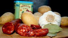 #Patatas con #chorizo de León. #Ingredientes