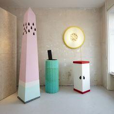 Der Pop up-Store der neuen Linie von Fruit of the Loom setzt auf Beton und wenige Farbkleckse
