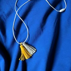 Leather tassel necklace.  https://www.etsy.com/shop/PinkHippoCrafts
