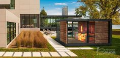 Luxury sauna house at home