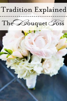 {This beautiful bouquet comes from Laura & Nathan's spring soiree} Ah it's finally Friday again - and I think that's a perfect time to demystify another of our classic wedding traditions: the b...
