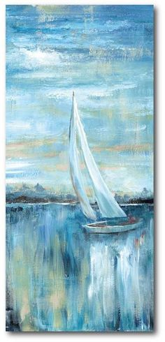 Courtside Market Painting Print on Wrapped Canvas Sailboat Art, Sailboat Painting, Sailboats, Painting Prints, Beach Paintings, Paintings Famous, Portrait Paintings, Flower Paintings, Abstract Paintings