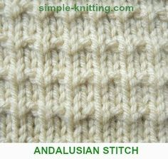 Andalusian Stitch - Simple Pretty Stitch Pattern