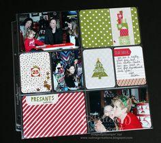 Project Life Seasonal Snapshot Christmas page ~ Cindy Schuster