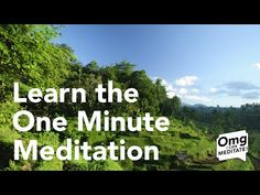 One Minute Meditation - Learn a Quick Meditation to Relax and Recharge - YouTube