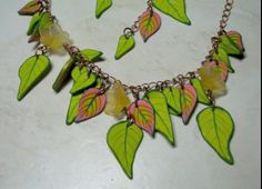 Polymer Clay Tutorial Palm Leaf Cane Necklace & by ilysaart, $5.00