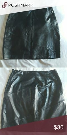 Leather Skirt Black Leather mini skirt with lining. Skirts Mini
