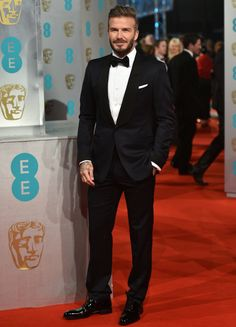 David Beckham 2015 BAFTA Awards 2