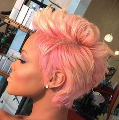 Wild Pink! via @salonchristol - http://wordpress-15463-33773-87284.cloudwaysapps.com/hairstyle-gallery/short-haircuts/wild-pink-via-salonchristol/