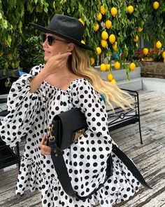 Amalfi, Summer Outfits, Polka Dots, Cover Up, Spring Summer, Dresses With Sleeves, Long Sleeve, Instagram, Fashion