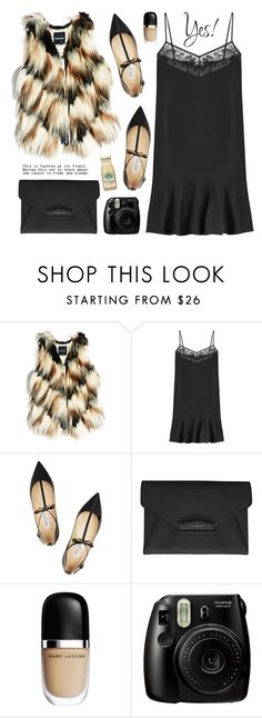 """""""Winter Layers: Slip Dress"""" by kels-x ❤ liked on Polyvore featuring GUESS by Marciano, Carven, Jimmy Choo, Givenchy, women's clothing, women's fashion, women, female, woman and misses"""