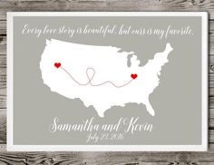 Wedding Guest Book Alternative,Map Wedding Guest Book,map guestbook poster,Long distance relationship,Personalized wedding Map,custom colors