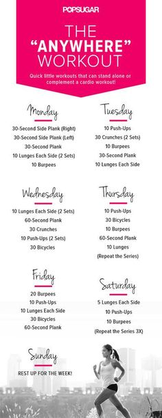 In need of a time-saving bodyweight workout plan? Let this week-long plan take the guesswork out of the equ...