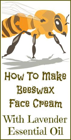 How to make all natural beeswax face cream with lavender essential oil.