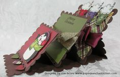 """Paper Punch Addiction: New Peachy Keen! (click the """"here"""" to find video) Fun Fold Cards, Folded Cards, Paper Punch Art, Christmas Cards, Xmas, Easel Cards, Video Link, Video Tutorials, Cardmaking"""