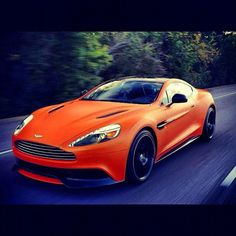 Sexy Orange Aston Martin DB9