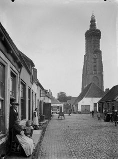 Amersfoort: Onze Lieve Vrouwetoren 1910-1935. Utrecht, Dutch Netherlands, The Province, Old City, Holland, Amsterdam, The Past, Printables, Black And White
