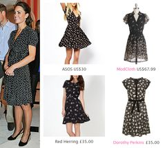 Kate Middleton Style Inspiration. SHOP these repliKates of the Issa bird print dress