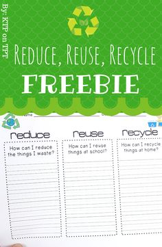 Reduce, Reuse, Recycle freebie! by KTP on TPT